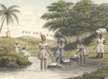Tøjvask i bækken, St. Croix ca. 1844.