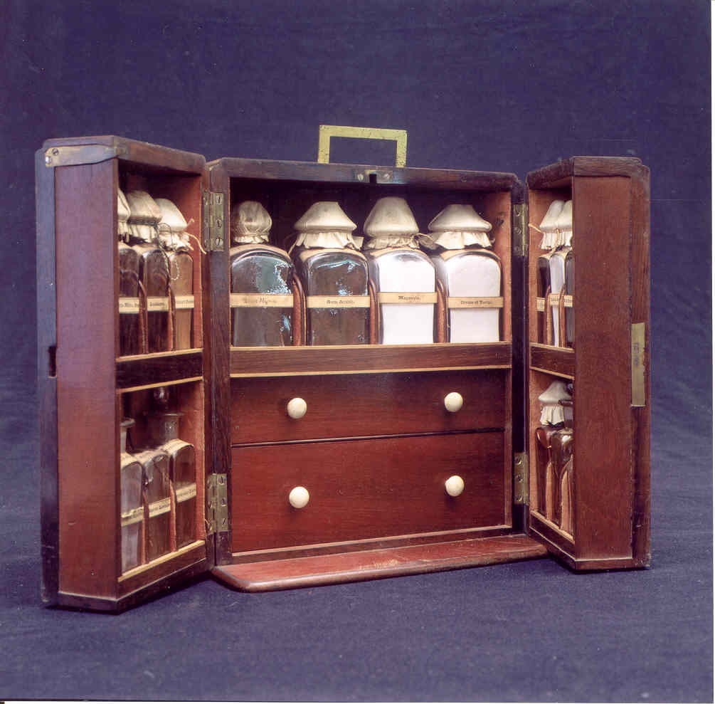 Medicine chest from the Danish West Indies.