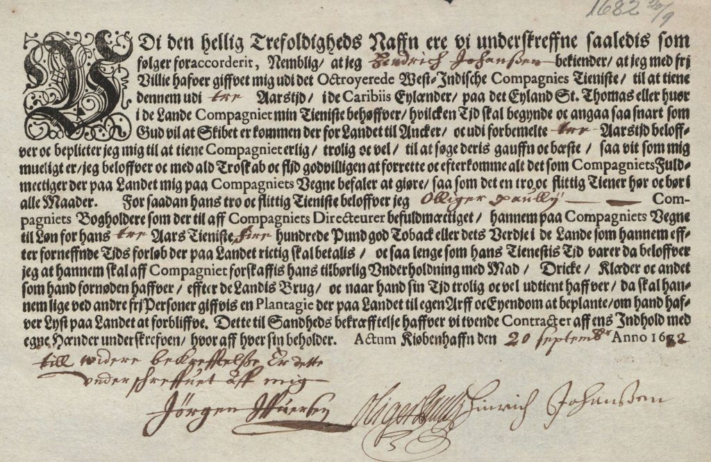 Indenture contract.
