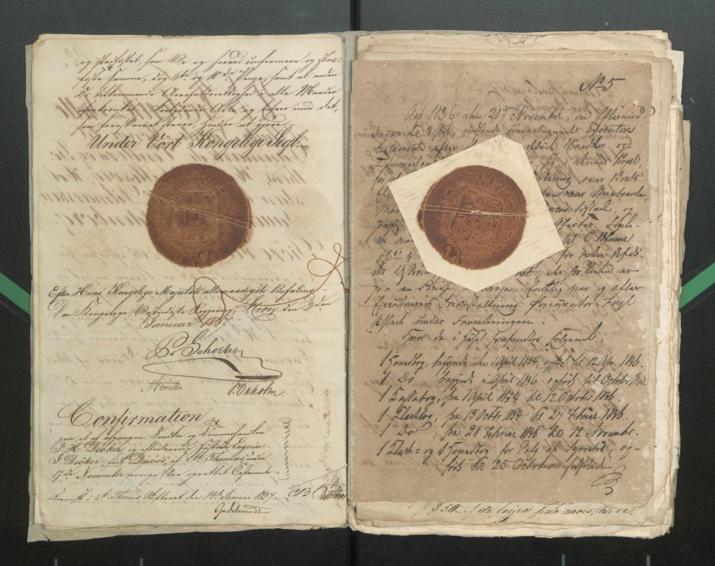 Loose documents from the 1837.