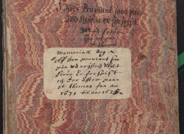 Regnskabsbog efter den første guvernør på St. Thomas var Jørgen Iversen Dyppel.