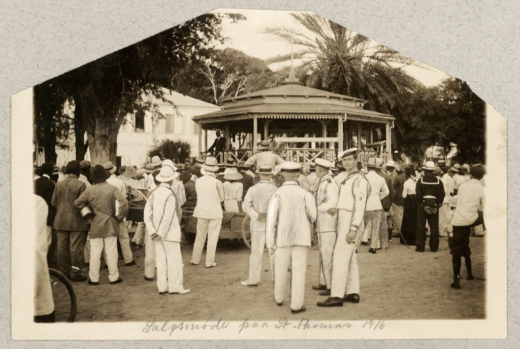 Møde i Emancipation Park i Charlotte Amalie på St. Thomas i 1916.