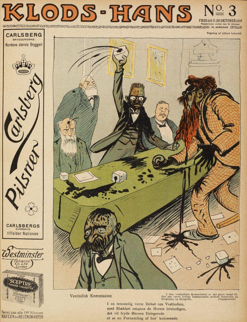Karikatur i Klods-Hans.