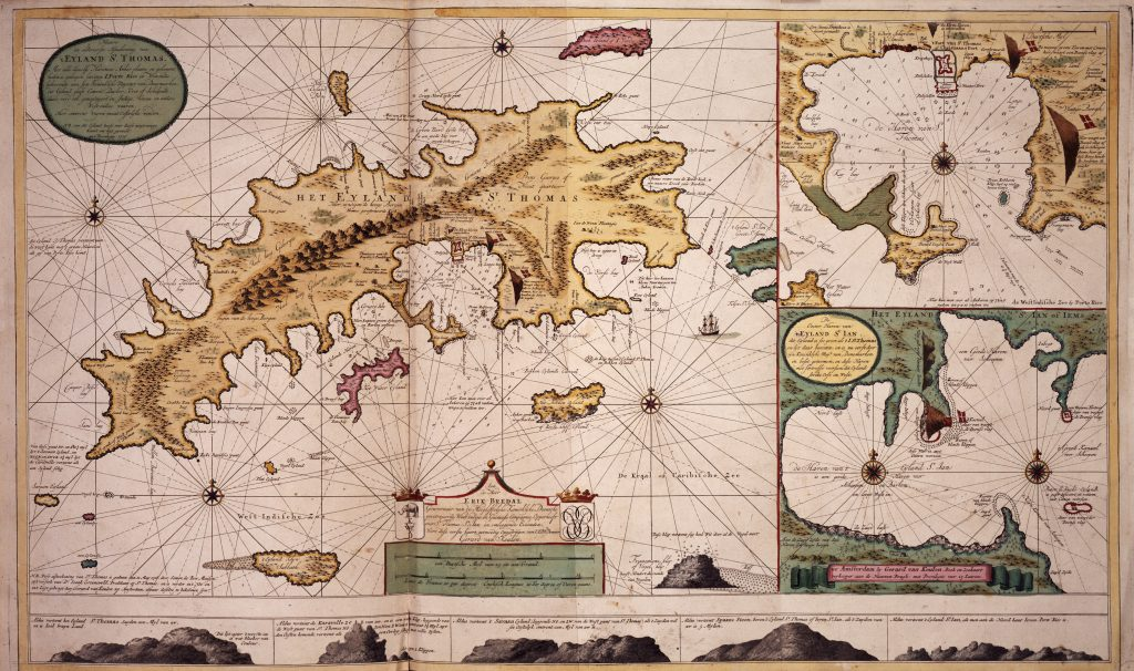 A map from an old Dutch sea atlas.