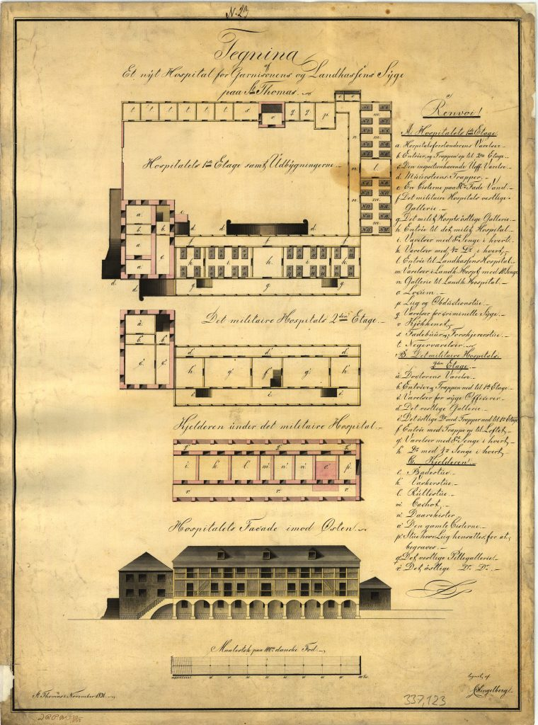Floor plan of the military hospital on