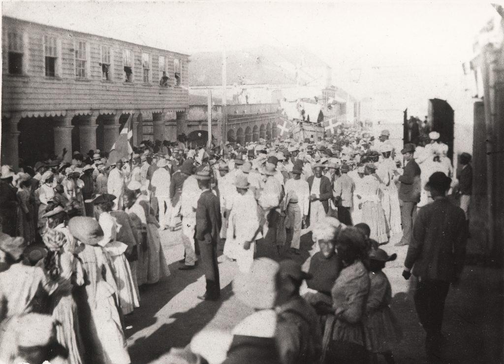 Hjemkomsten til St. Croix i 1915.
