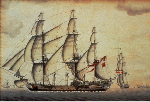 "The frigate ""Fredensborg""."