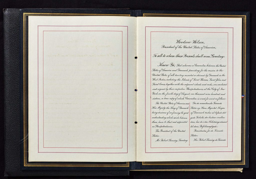 The first page of the sales treaty from 1916.