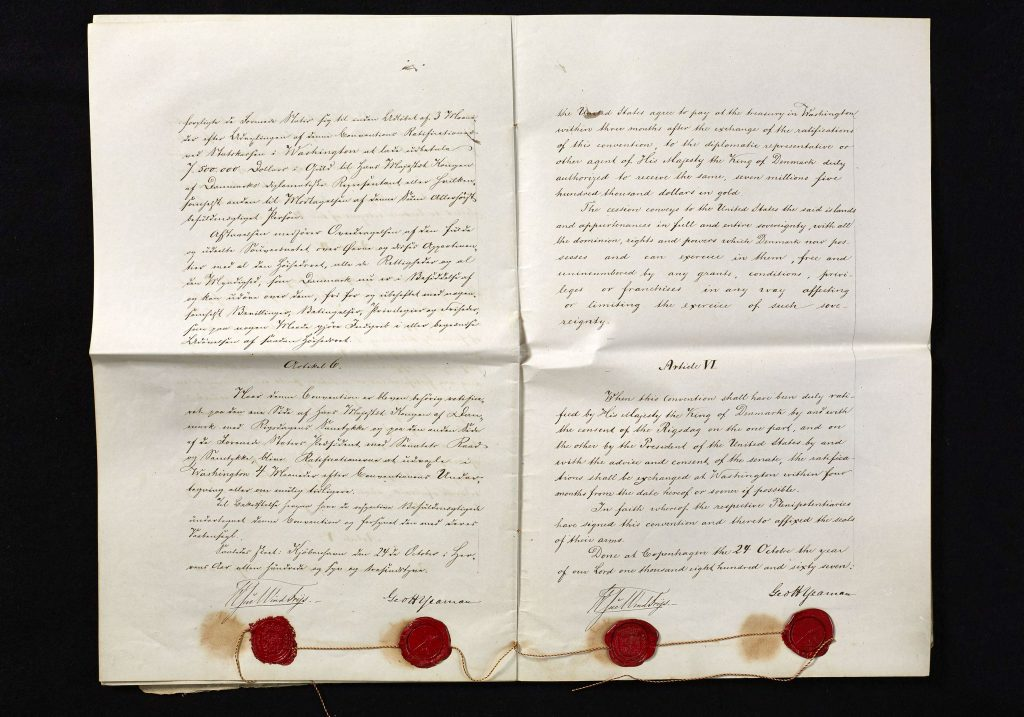 The last page of the sales treaty from 1867.