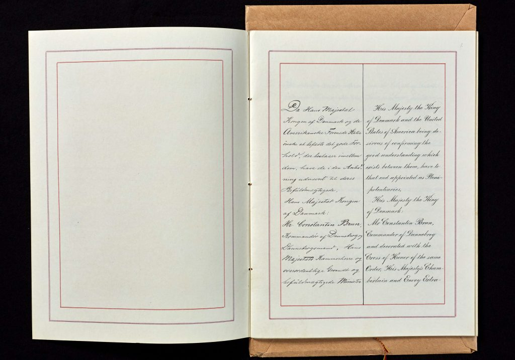 The first page of the sales treaty from 1902.