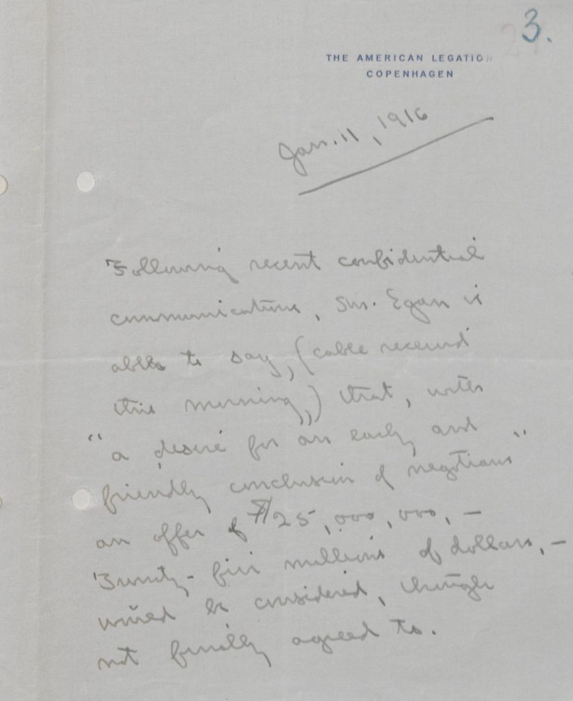 Memorandum of January 1916.