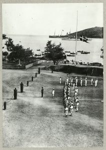 Picture of the gendarmerie barracks in Charlotte Amalie.
