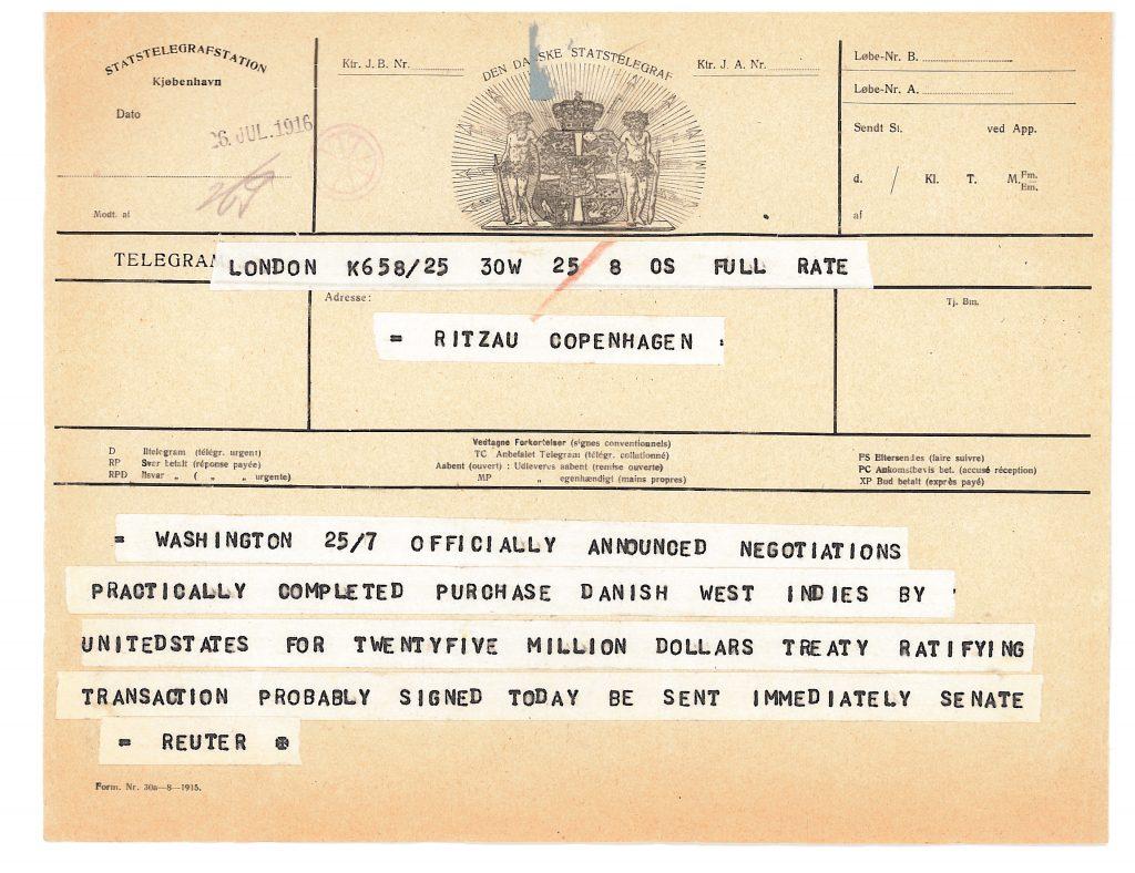 Picture of telegram.